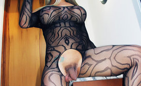 Tgirl Nelly Ochoa in body stocking