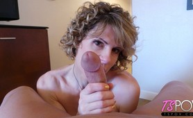 MILF TS POV sex with Delia Delions