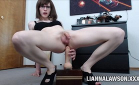 TS Lianna Lawson riding dildo on cam